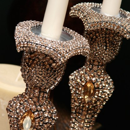CDH-223-GOLD bb Simon Swarovski crystal Candle holder