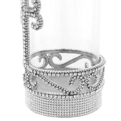 CDH-255-Clear- L  bb Simon Swarovski crystal Candle holder