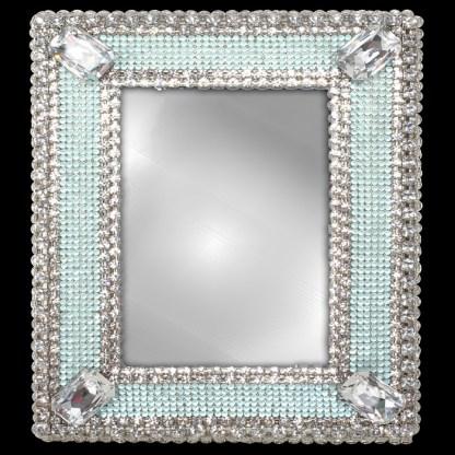 F-104-BABY BLUE-M bb Simon Swarovski crystal frame