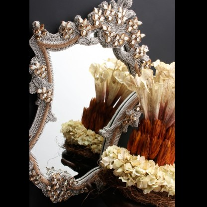 M-200-GOLD-CLEAR BB Simon Gold Swarovski Crystal Mirror