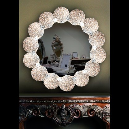 M-303 BB Simon Special Jeweled Crystal Clear Mirror