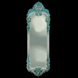 M-305 BB Simon Full Length Turquoise Bling Mirror