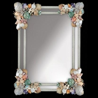M-401-SHELL BB Simon Coastal Swarovski Bling Mirror