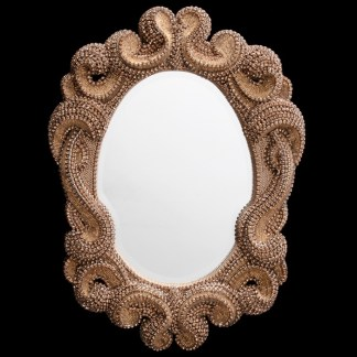 M-519-GOLD BB Simon Royal Gold Crystal Mirror