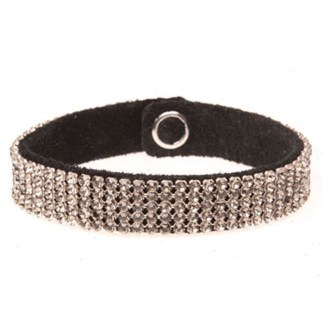 MESH CUFF-5ROW-BLACK DIAMOND