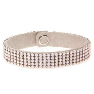 MESH CUFF-5ROW-ROSE WATER PEARL