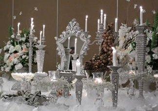 WEDDING # 6 - Crystal Decorations Mirrors Candle Holder Wedding Decor Rental