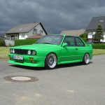 Green Bmw E30 M3 On 17 Staggered Bbs Rs Bbs Rs Zone