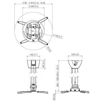 Projektora stiprinājums Vogels PPC 2585 • BBT