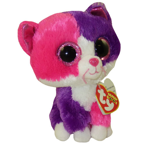 TY Beanie Boos PELLIE The Pink Amp Purple Cat Glitter