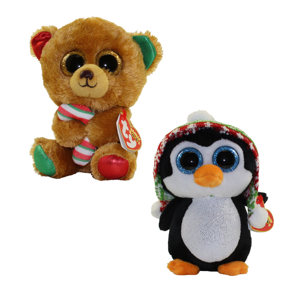 TY Beanie Boos SET Of 2 CHRISTMAS 2017 Releases Glitter