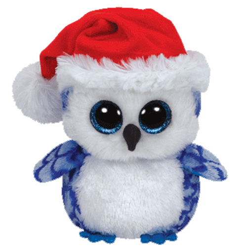 TY Beanie Boos ICICLES The Blue Owl Glitter Eyes