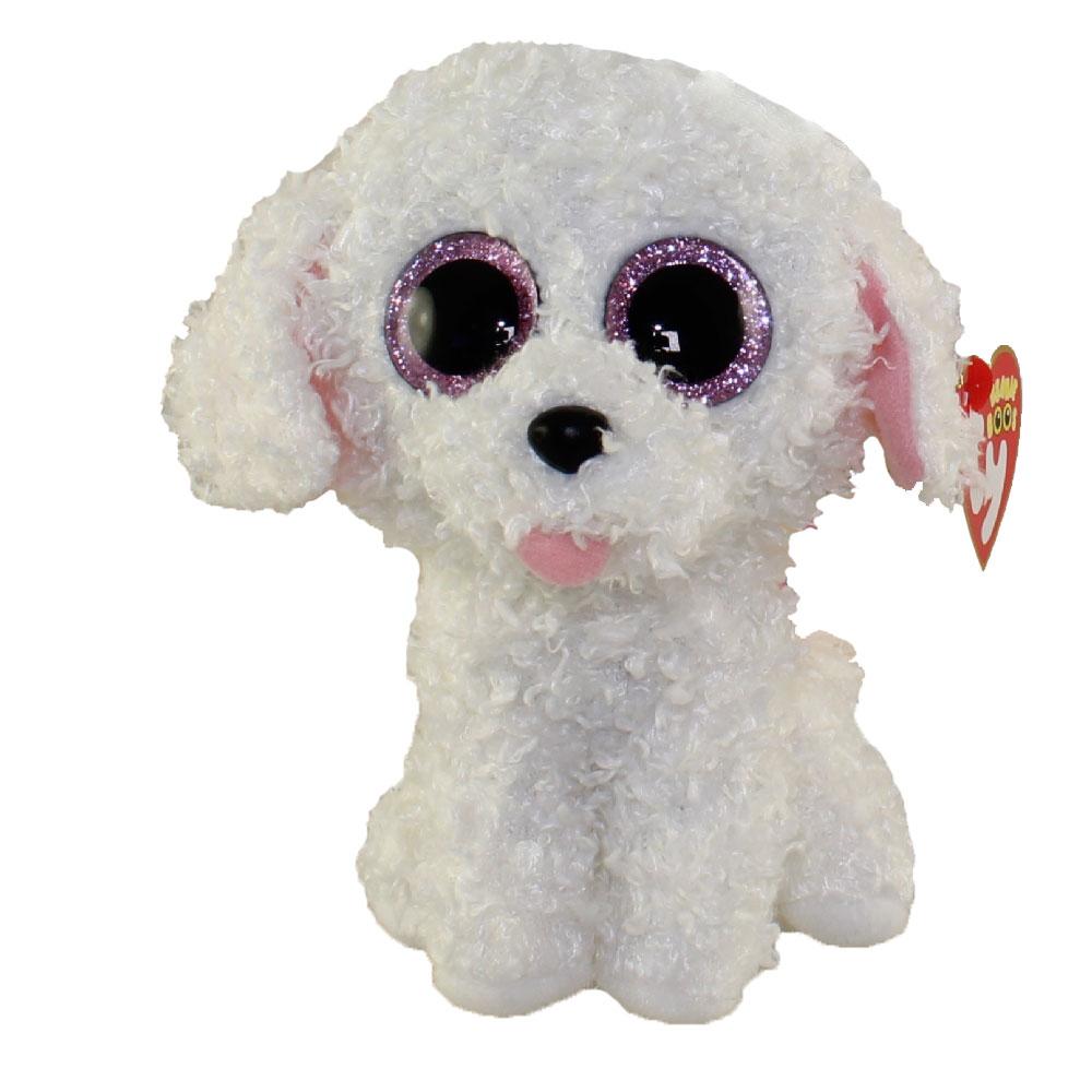 TY Beanie Boos PIPPIE The White Bichon Dog Glitter Eyes