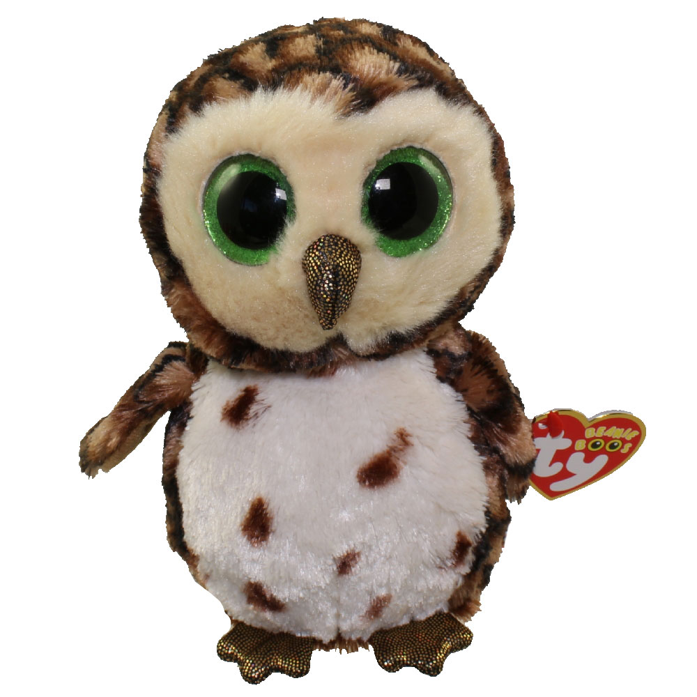 TY Beanie Boos SAMMY The Brown Owl Glitter Eyes