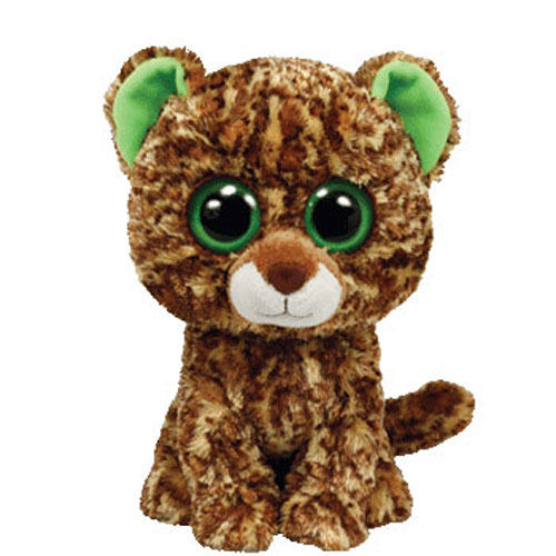 TY Beanie Boos SPECKLES The Leopard Solid Eye Color