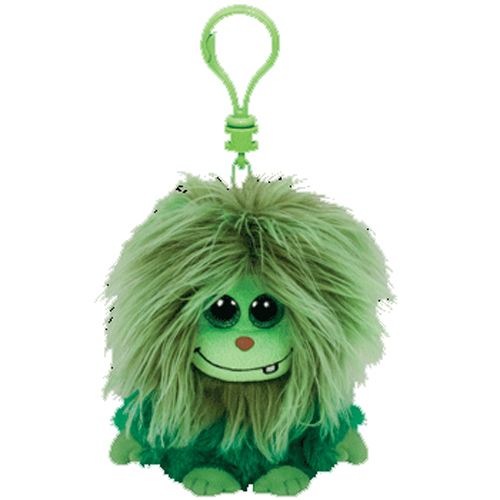 TY Frizzys SCOOPS The Green Monster Plastic Key Clip
