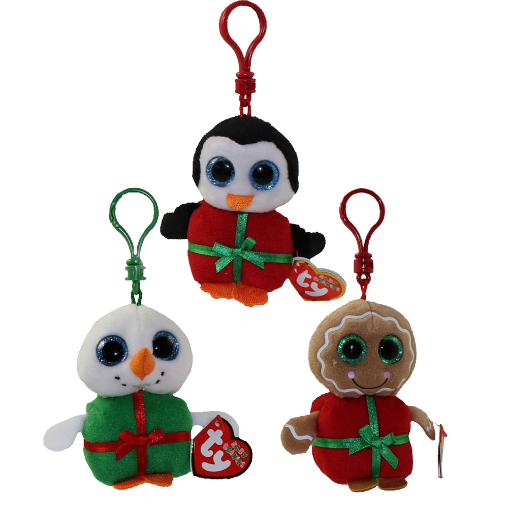 ty holiday baby beanies 2015 complete set of 3 sweetsy shivers u0026 chill key clips