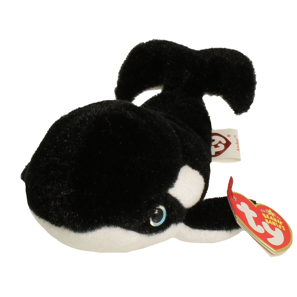 TY Beanie Baby ANCHOR The Whale 75 Inch BBToyStore