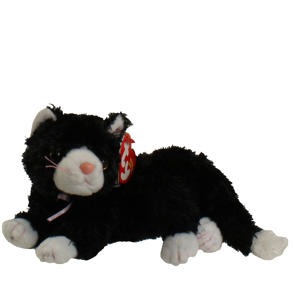 TY Beanie Baby BOOTIES The Black & White Cat 8 Inch