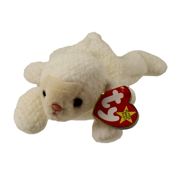 Ty Beanie Baby - Fleece Lamb 7.5 Toys Plush Trading Cards Action