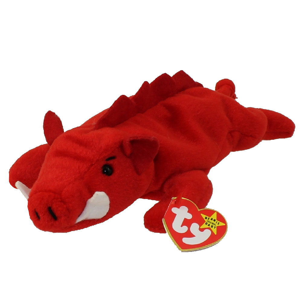 TY Beanie Baby GRUNT The Razorback 4th Gen Hang Tag 9