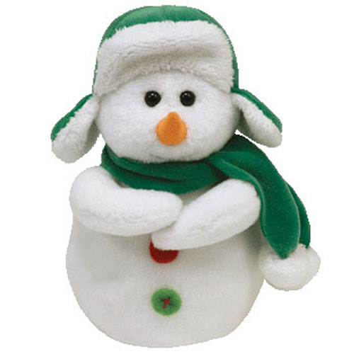 TY Beanie Baby MR SNOW The Snowman 6 Inch Toys Plush Trading Cards