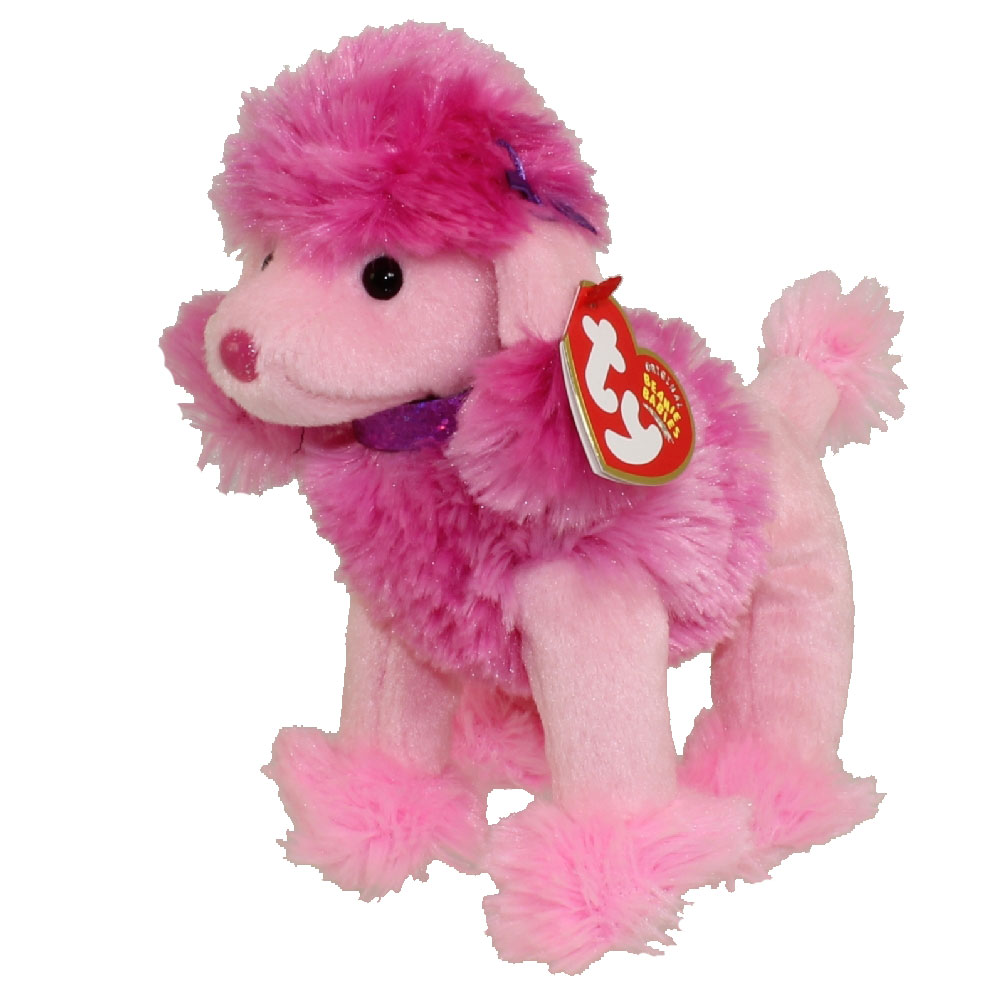 TY Beanie Baby OOH LA LA The Pink Poodle Dog 6 Inch