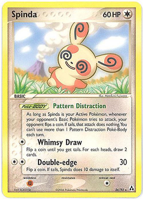Pokemon Card Legend Maker 2692 SPINDA Rare