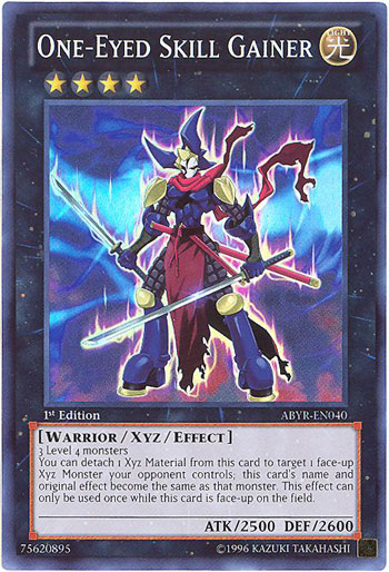 YuGiOh Card  ABYREN040  ONEEYED SKILL GAINER super rare holo BBToyStorecom  Toys