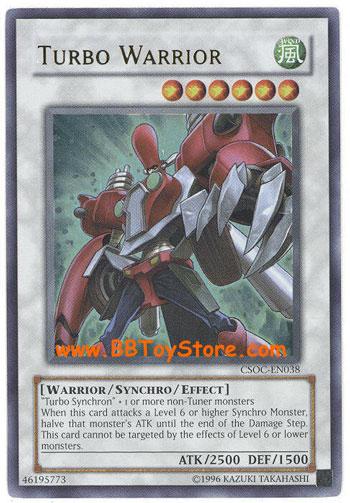 YuGiOh Card  CSOCEN038  TURBO WARRIOR ultra rare holo BBToyStorecom  Toys Plush