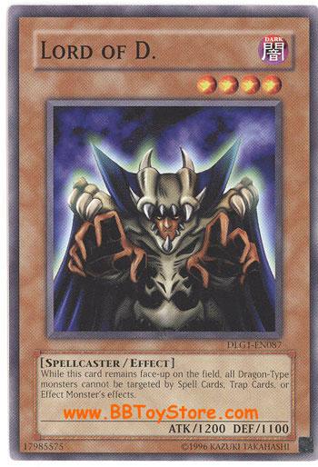 YuGiOh Card  DLG1EN087  LORD OF D common BBToyStorecom  Toys Plush Trading Cards