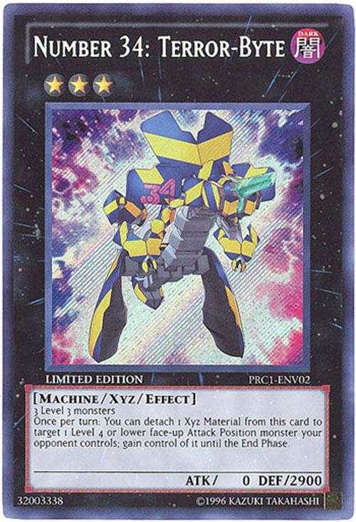 YuGiOh Card  PRC1ENV02  NUMBER 34 TERRORBYTE secret rare holo BBToyStorecom  Toys