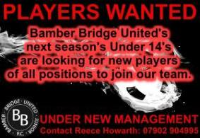 Players Required For Next Season – Under 14's