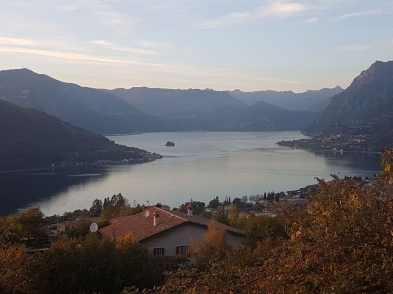 Vista del lago di Como dalla strada per Paspardo