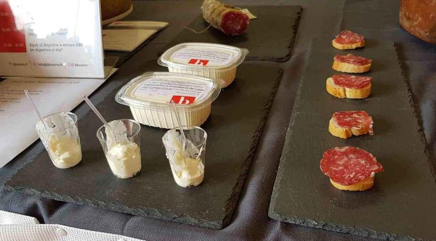 degustazione di prodotti tipici bresciani Bbuono alla Fiera di Orzinuovi