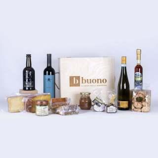 Cassetta in legno regalo prodotti alimentari tipici