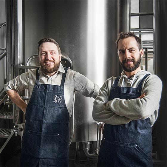 Matteo e Christian fondatori e proprietari del birrificio Curtense in Franciacorta