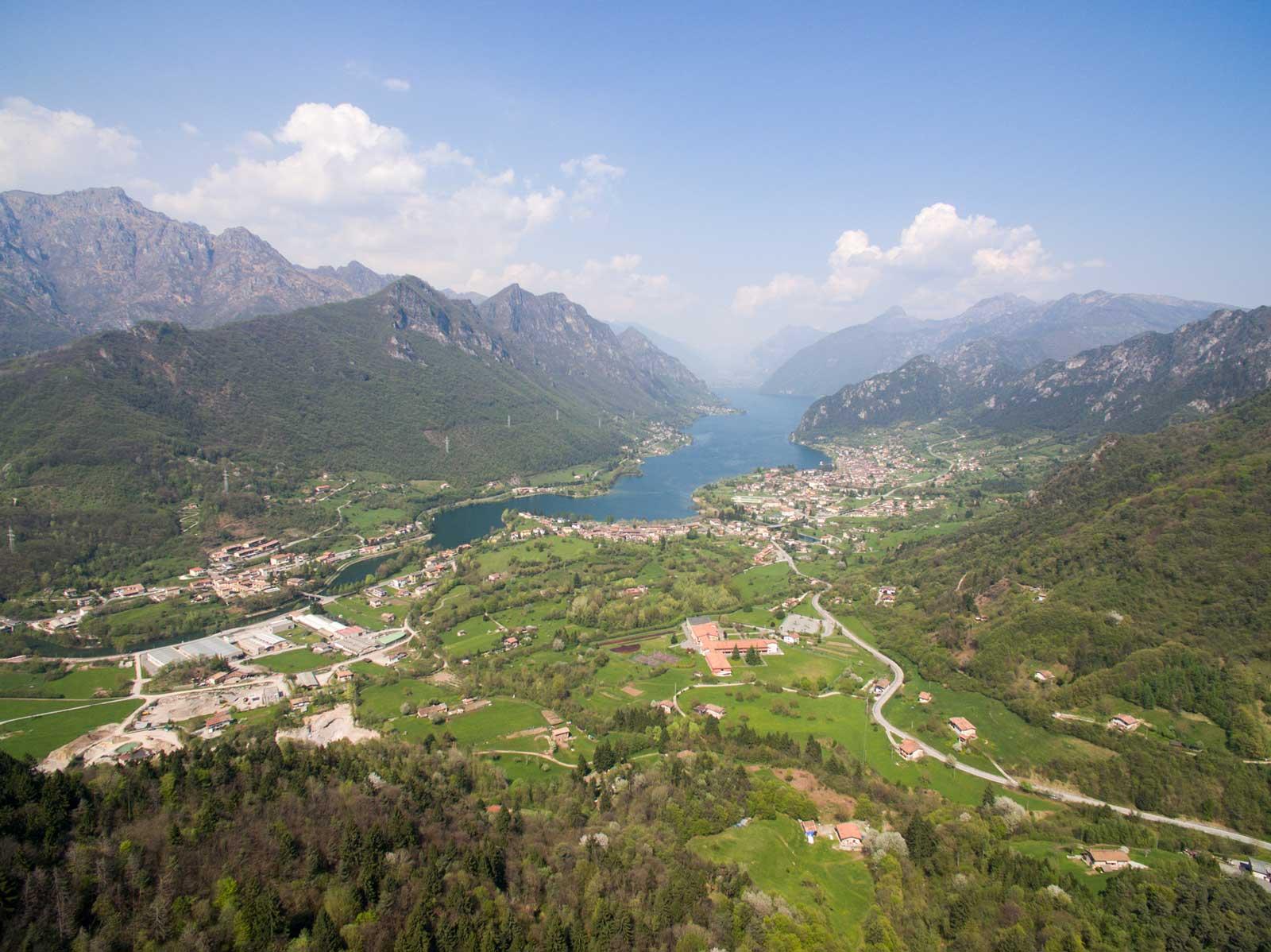 Vista del lago d'Idro da Treviso Bresciano