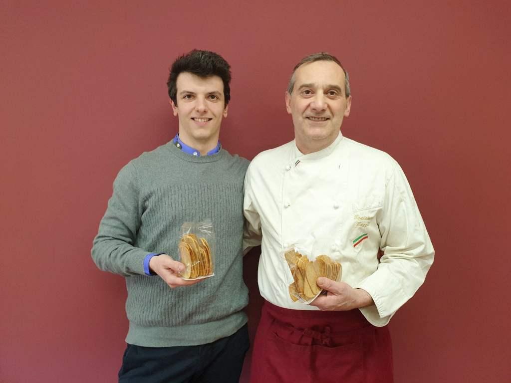 Mattia Apostoli e Beniamino Bazzoli con biscotto bbreak