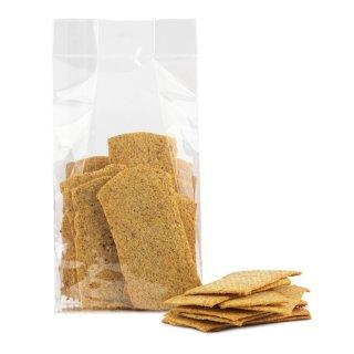 Cracker naturale con formaggio non fritto ma cotto al forno