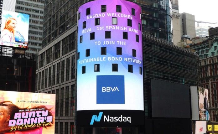 BBVA, primer banco español en el mercado de deuda sostenible del Nasdaq 1