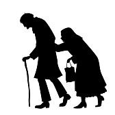 silhouette-paar-walking