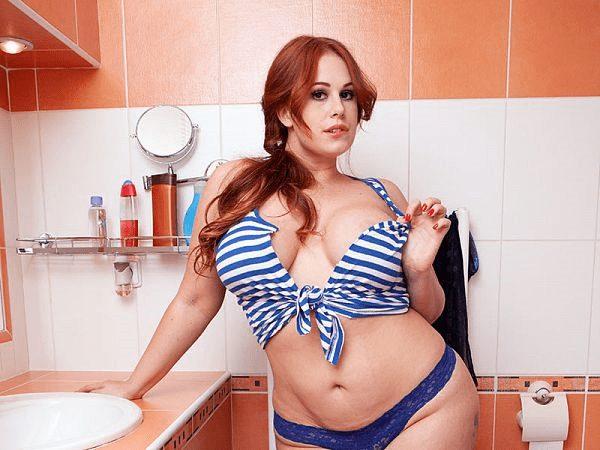 BBW model Yola Flimes busty chick porn girl