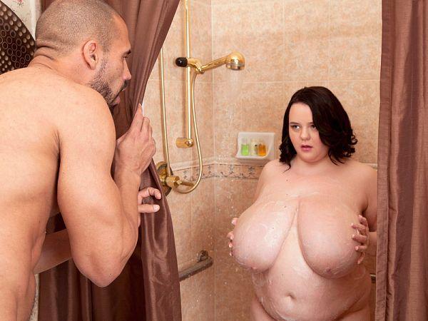 Peyton Thomas BBW shower porn video XXX