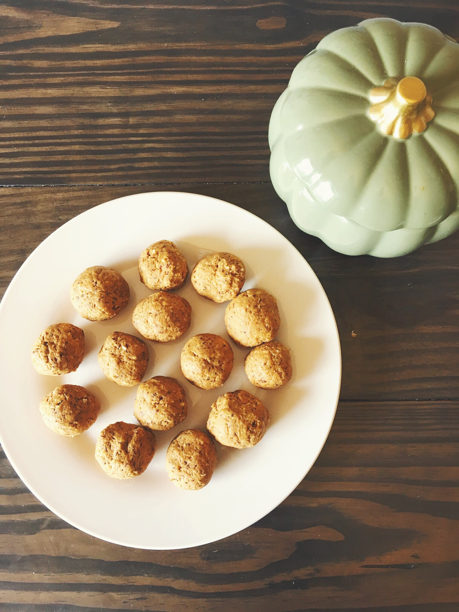 No Sugar Added Pumpkin Protein Bites