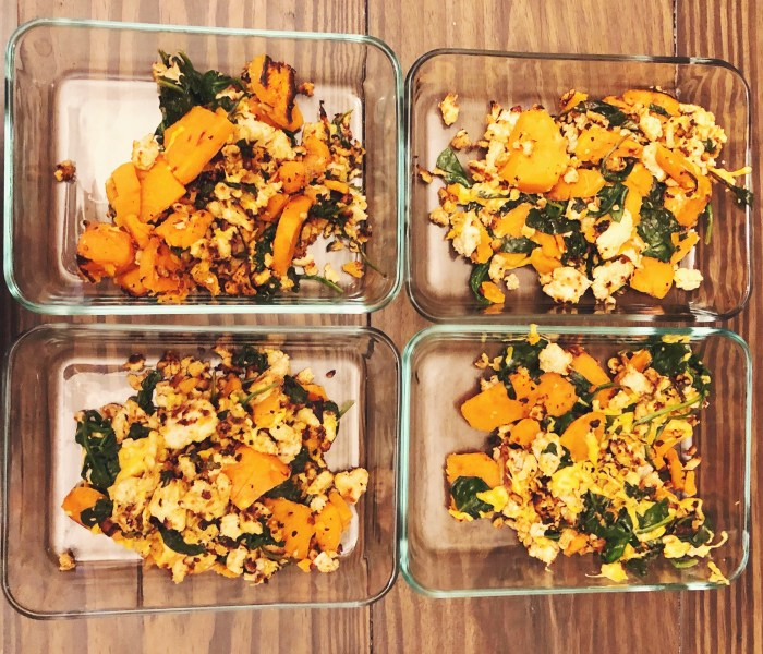 Sweet Potato, Spinach, Turkey Skillet