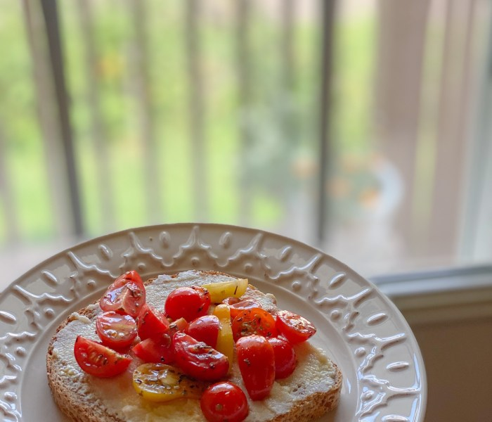 End of Summer Easy Tomato Ricotta Toast