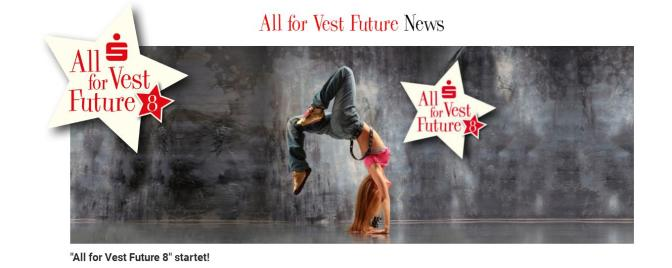 All for Vest Future 8  – Aktion der Sparkasse Vest Recklinghausen !