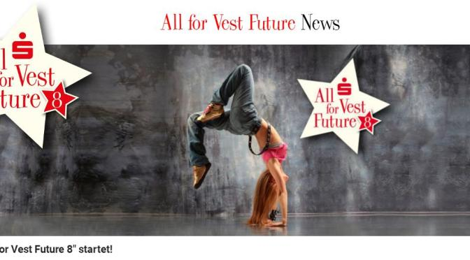 "Sparkassen Spendenübergabe ""All for Vest Future 8"""