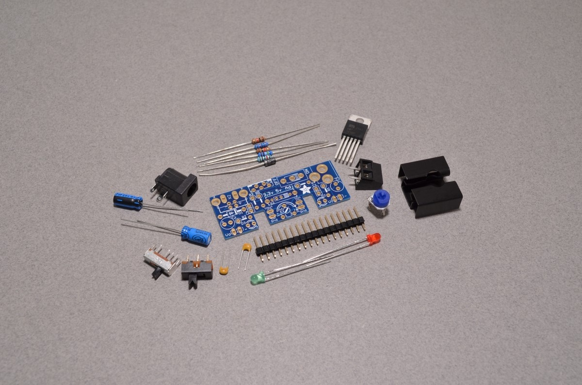 Modmypi Adjustable Breadboard Power Supply Kit